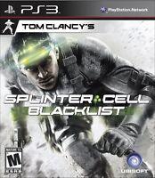 Tom Clancy's Splinter Cell: Blacklist  (Playstation 3, 2013) NEW