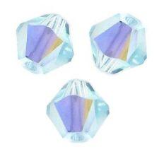 20 Perles Toupies 4mm Cristal Swarovski  Ref 5301 - LIGHT AZORE  AB