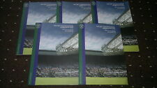 5 OFFICIAL PROGRAMMES *THE 126th CHAMPIONSHIPS WIMBLEDON 2012* / FREE UK P&P