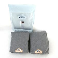 Changing Pad Covers BlueSnail Gray Jersey Knit 16 X 32 Elastic Set of 2 New