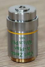 Zeiss Mikroskop Microscope Objektiv A-Plan 10/0,25 Ph1