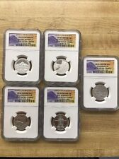 2010-S  SILVER  ATB Quarter 5 coin set-NGC PF70 Ultra Cameo-Banned Labels *Rare*