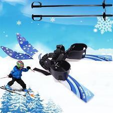 65cm Kid's Beginner Snow Skis Poles Board Bindings Skiblades Snowboard Gift