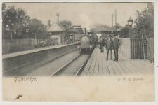 Somerset postcard - Highbridge, G.W.R Station