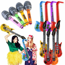 12*Inflatable Music Instruments Guitar/Microphone/SAXOPHONE COLOURFUL BLOW UP
