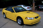1999 Ford Mustang 1-OWNER 80K PREMIUM PONY 3.8L V6 CONVERTIBLE CHROME YELLOW A CLEAN GA ADULT LEATHER MACH AUDIO AC AUTO CRUISE COMP 2 FOXBODY NON GT COUPE 1