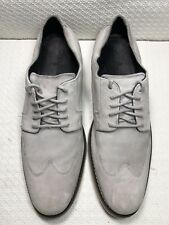 Cole Haan Men's Beige Suede Leather Wingtip Loafers Size-11.5 M