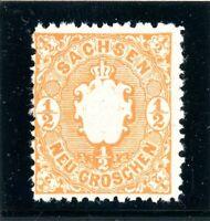 Sachsen MiNr. 15 d postfrisch MNH im Borek Vordr. (BW7319