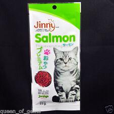 Jinny Cat Snack SALMON Flavor 35 g. The Best Quality By JerHigh Training rewards