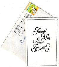 PATRICK O'HAGAN daughter Jeannine Gray signed sympathy card. & envelope