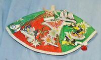Wanderkappe Souvenirkappe Tirol, Edelweiss, rot grün,11 Wandernadeln, alt selten