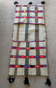 Guatemalan Saddlebag quality wool woven with bright colors, excellent condition