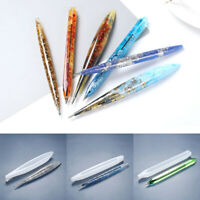 1pc Transparent Silicone Mould Ballpoint Pen Mold Epoxy Resin Mold Craft DIY