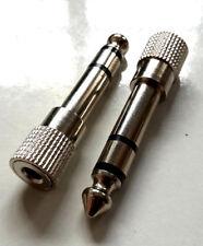 3,5 mm Miniklinke > 6,35 mm Klinke Adapter Stereo METALL Mini Kopfhörer s43