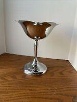 Classic Simple Farberware Chrome Pedestal Candy Dish Brooklyn NY USA