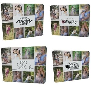 Personalised 8 Photos Collage Plain Glass Chopping Board Mother's Day Gift