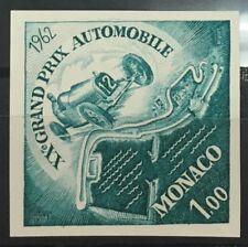 MONACO n° 574  Grand Prix Automobile 1962 non dentelé essai color proof TB **