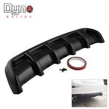 26x5 Abs Rear Shark 6 Fin Curved Bumper Lip Diffuser Kit Universal Black Fits Toyota Yaris