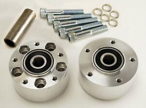 "Polished Dual Flange Narrow Glide Wheel Hub For Ultima 21"" CNC Aluminum Wheels"