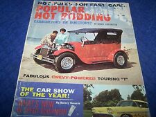 Popular Hot Rodding Magazine,Rat Rods, Early Hot Rod & Custom Cars,Sept 1962