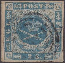 1854-57 Denmark general issue stamp 2s S#3 used/lt hinge/light cancel TMM*