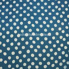 Indigo Blue Polka Dot Pure 100% Cotton Filled Jaipuri Kantha Quilt Queen Size