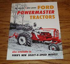 1957 - 1962 Ford Tractor 801 & 901 4 Plow Powermaster Sales  Brochure