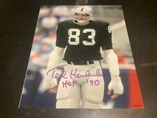 ted Hendricks autographed 8x10,Raiders  coa&holo100%authentic