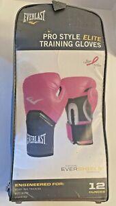 Everlast Pro Style Elite Training Gloves 12 ounces Pink/Black