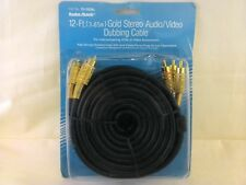 Radio Shack 15-1509A 12-Ft. Gold Stereo Audio/Video Dubbing Cable