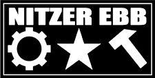 Nitzer Ebb vinyl sticker 150mm x 80mm Die Krupps dance electronica Killing Joke