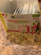 Kids Adhesive Eye Patches Fun Girls Design 37 Count—open Box, Sealed Units