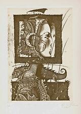 "Original etching ""Evening guest"" by SUSTOV ROMAN / Bel."