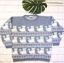 Adele Fairy Kei Cat Pastel Sweater L XL ?