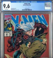 PRIMO:  X-MEN #24 GAMBIT & ROGUE kiss NM+ 9.6 CGC 1993 Marvel comics