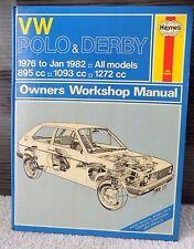 Haynes Owners Workshop Manual, VW Polo & Derby 76 - Jan 82