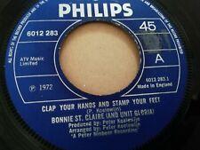 """BONNIE ST. CLAIRE & UNIT GLORIA * CLAP YOUR HANDS ...* 7"""" SINGLE EXCELLENT 1972"""