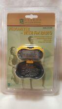 OREGON SCIENTIFIC PE316FM Pedometer With FM Radio Counts Steps Measures Distance
