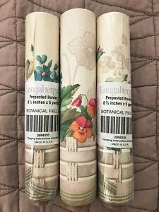 Longaberger Botanical Fields Prepasted Wallpaper Border