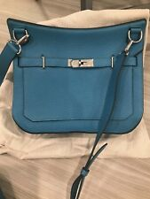 Hermes Jypsiere 28 Turquoise Clemence leather