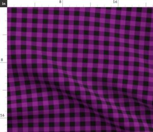 Purple Buffalo Plaid Spoonflower Fabric by the Yard