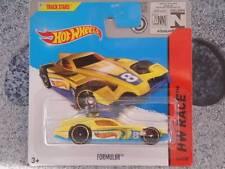 Hot Wheels 2014 # 153/250 Formul8R Jaune sur bleu HW COURSE Lot H