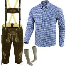 Trachtenset Trachten Set Herren Trachtenlederhose Hemd Socken 46 bis 62 LE2BLSO
