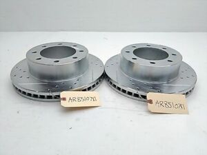 Disc Brake Rotor Cross Drilled Slotted FRONT Power Stop *PAIR* F-250 F-350 F-450