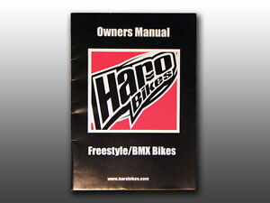 Original Mid School 2006 Haro Freestyle/BMX Bicycle, Owner's Manual