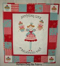 PATCHWORK / APPLIQUÉ FUN FAIRY CUPCAKE DIET WALL HANGING SEWING PATTERN by Gail