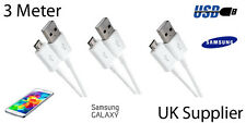 3m Long Micro USB Data Charger Cable for Samsung Galaxy S5 S4 Tab3/4 Note
