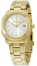 Wenger Women Edge Index Quartz 100m Gold Tone Stainless Steel Watch 01.1121.107