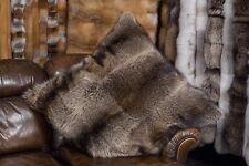 1395 Großes Kanadisches Waschbär Pelzkissen Echt Fellkissen Waschbär Pelz Kissen