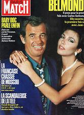 ** Paris Match n°1935 Sandrine Bonnaire / Pierre Rey / Michel Olivier